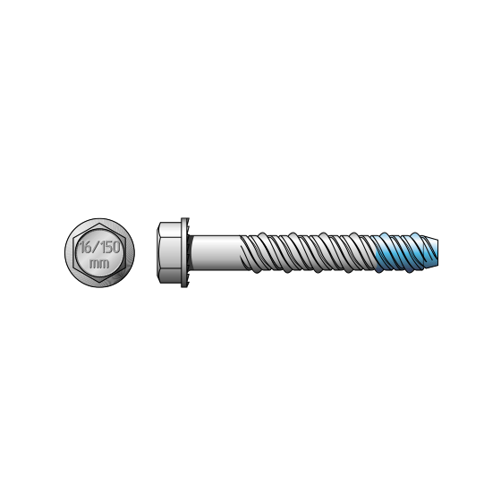 Hex Head Blue -Tip SCREW-BOLT™ Galvanised
