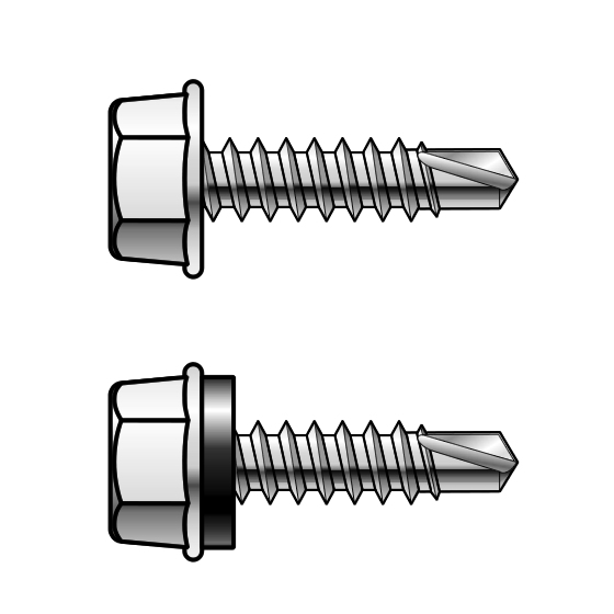 12 Gauge Hex Head Metal Self Drilling Screws