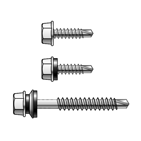 Powers - 14 Gauge Hex Head Metal Self Drilling Screws